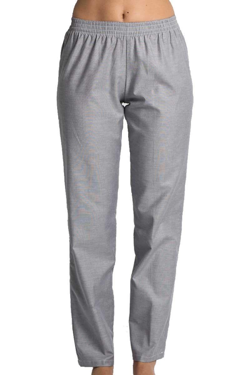 a132561458 Pantalón Dyneke en color gris con goma en la cintura. Es un modelo clásico  de pijama unisex sin bolsillos. Es una prenda que puedes darle múltiples  usos.