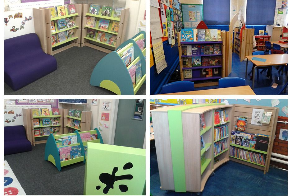 Images of new reading corners at Oliver Goldsmith's primary school