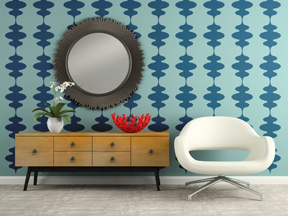 Retro Wall Decal, Mid Century Modern, Modern Wall Decal, Geometric Wall  Decals, Nursery Wall Decals, Apartment Wall Decor, Modern Nursery