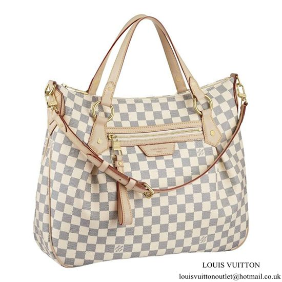 bcc653051935 Louis Vuitton Evora MM N41133 Shoulder Bag Damier Azur Canvas ...