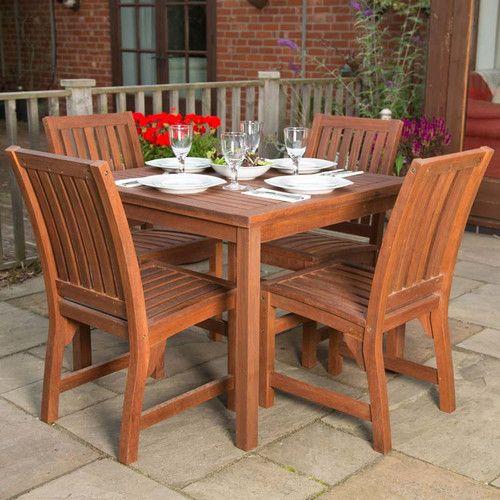 Found it at Wayfairuk - 4 Seater Dining Set Garden Furniture