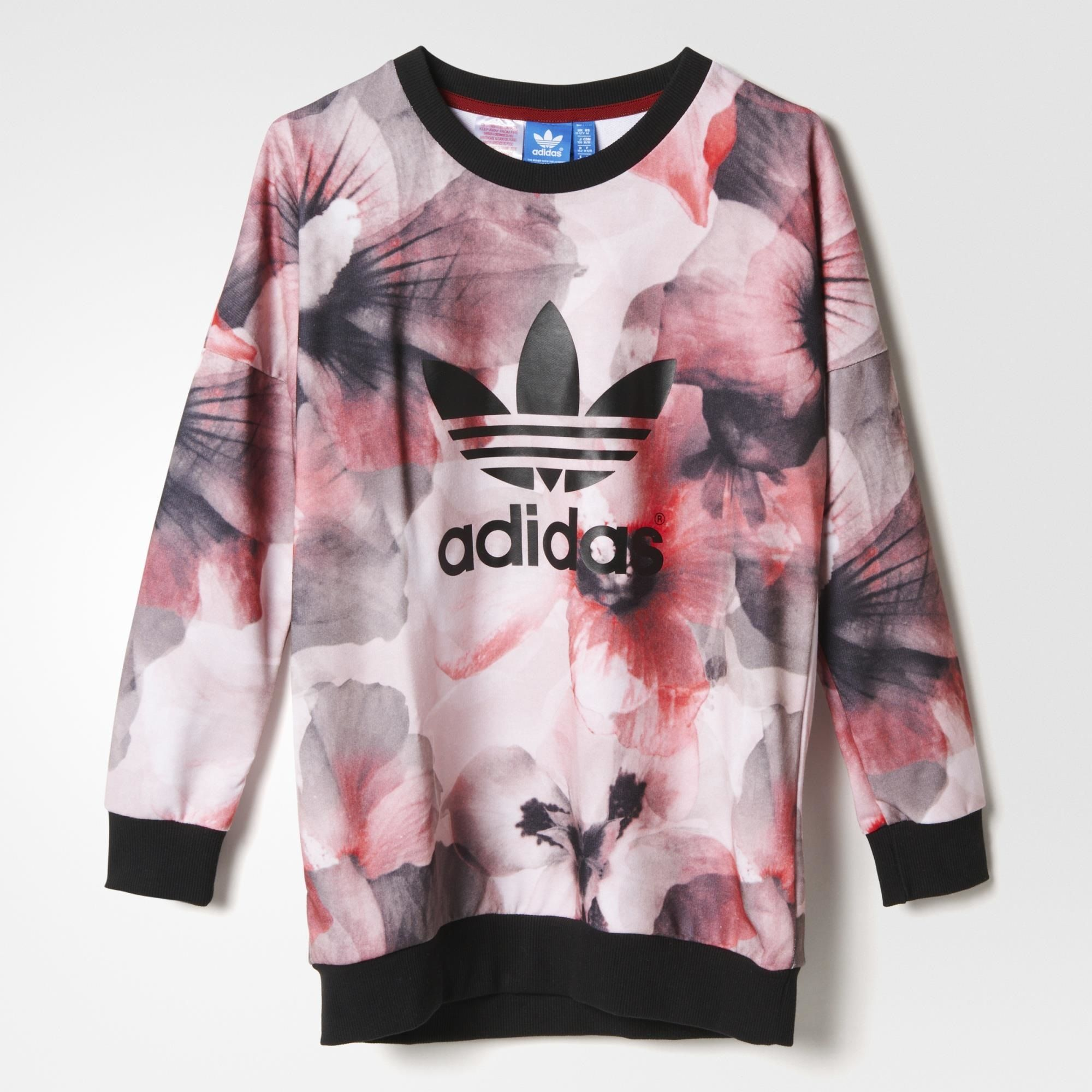 Adidas Allover Print Pullover Red Adidas Us Sweatshirts Print Pullover Youth Hoodies [ 2000 x 2000 Pixel ]