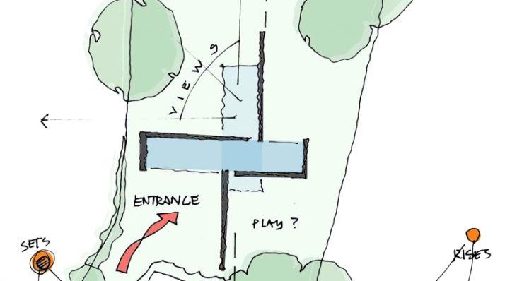 Plan de la maison contemporaine Kennedy House Journal du Loft