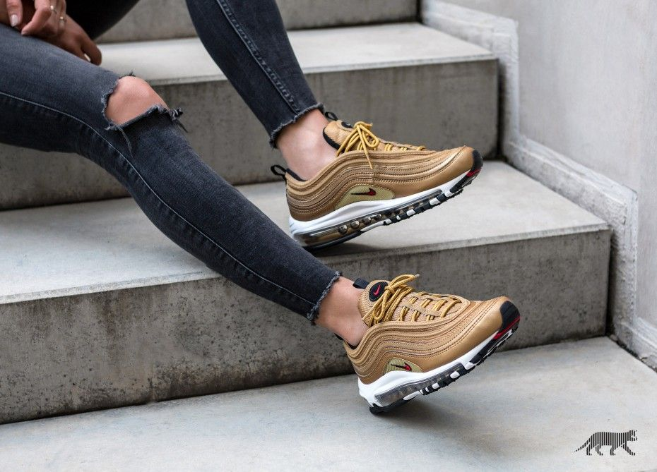 Fashion Shoes on | Gold nike air max, Nike air max 97, Air ...