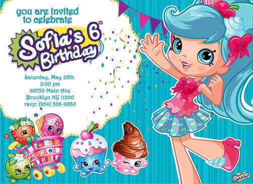 Cool Free Printable Shopkins Birthday Invitation Template Free