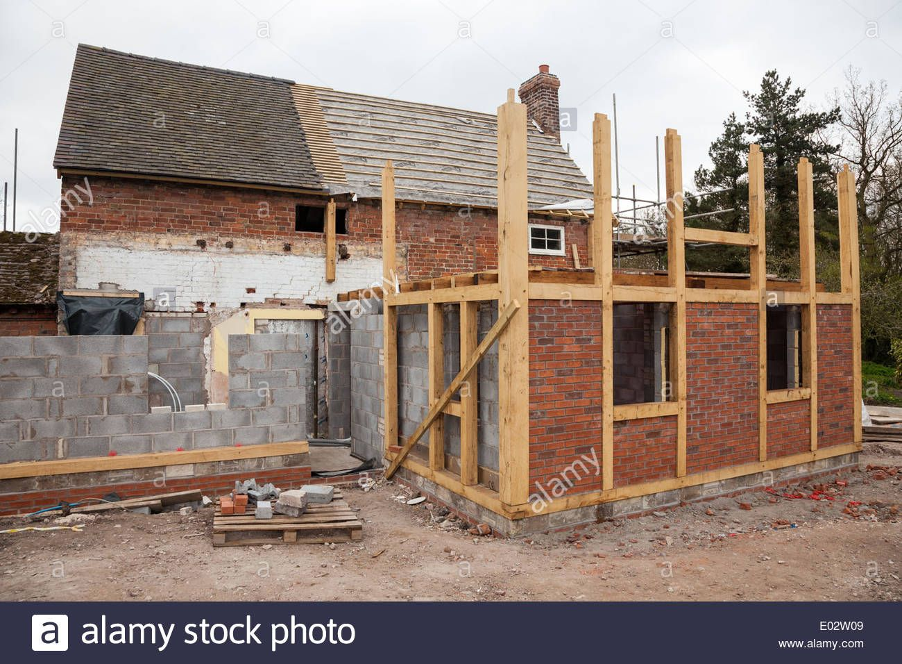 a-timber-framed-extension-to-an-existing-brick-built-house-or ...