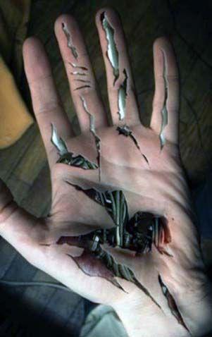 incredible hand tattoo