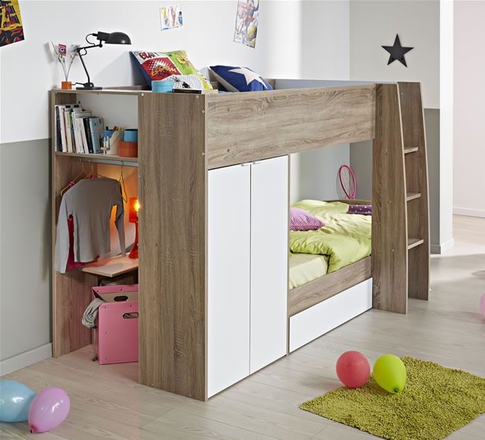 Marvelous Parisot Stim Bunk Bed With 2 Door Wardrobe | The Home And Office Stores