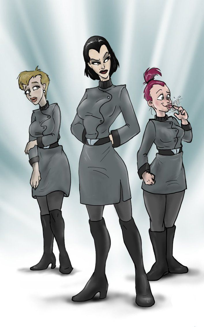 "Female versions of Walt, Larry and Igner in ""Dad's Daughters"" by MarIshmallow 