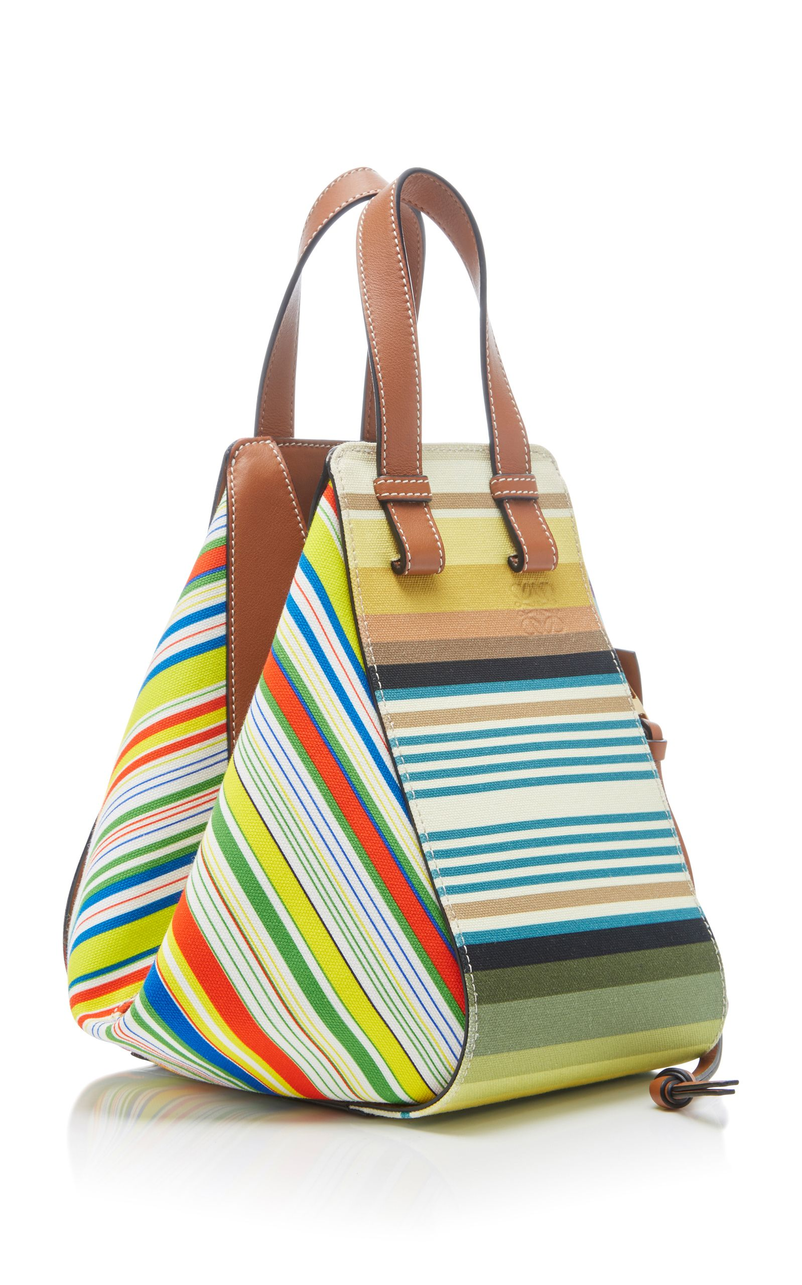 Loewe hammock small canvas and calf leather bag