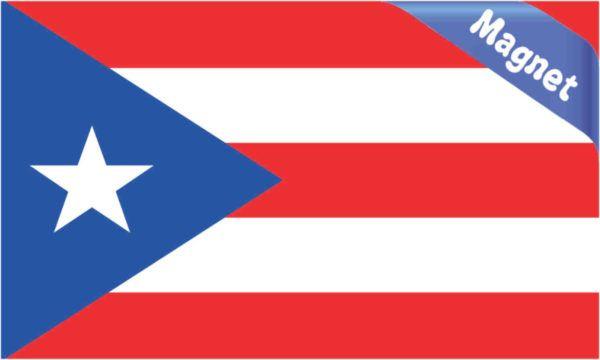 5in X 3in Flag Of Puerto Rico Magnet Car Bumper Magnets Vinyl Magnetic Bumper Magnets Puerto Rico Puerto Rico Flag