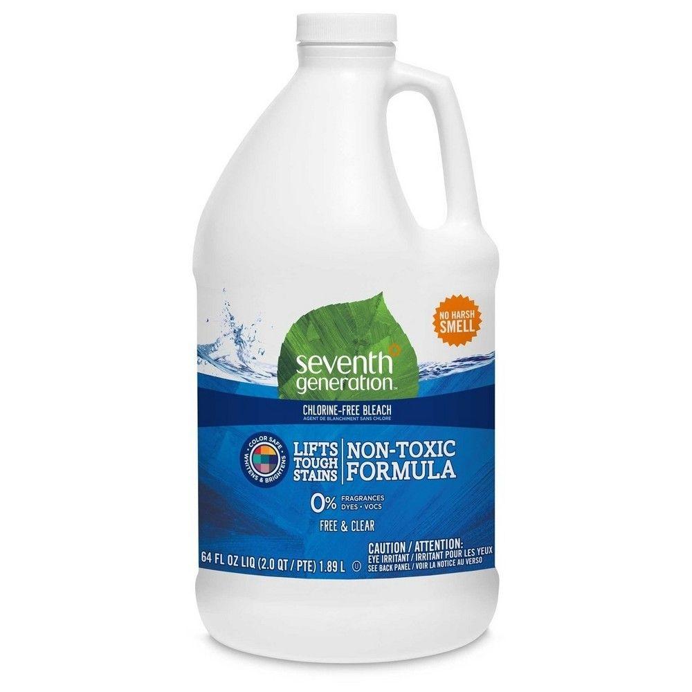 Seventh Generation Chlorine Free Bleach 64 Fl Oz Bleach Tough