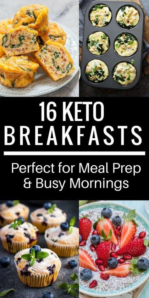 16 Easy Keto Breakfast Recipes! Perfect for Meal Prep & Busy Mornings -   21 breakfast recipes muffins ideas