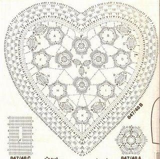 Crochet heart chart crochet pinterest free pattern chart crochet heart chart ccuart Images