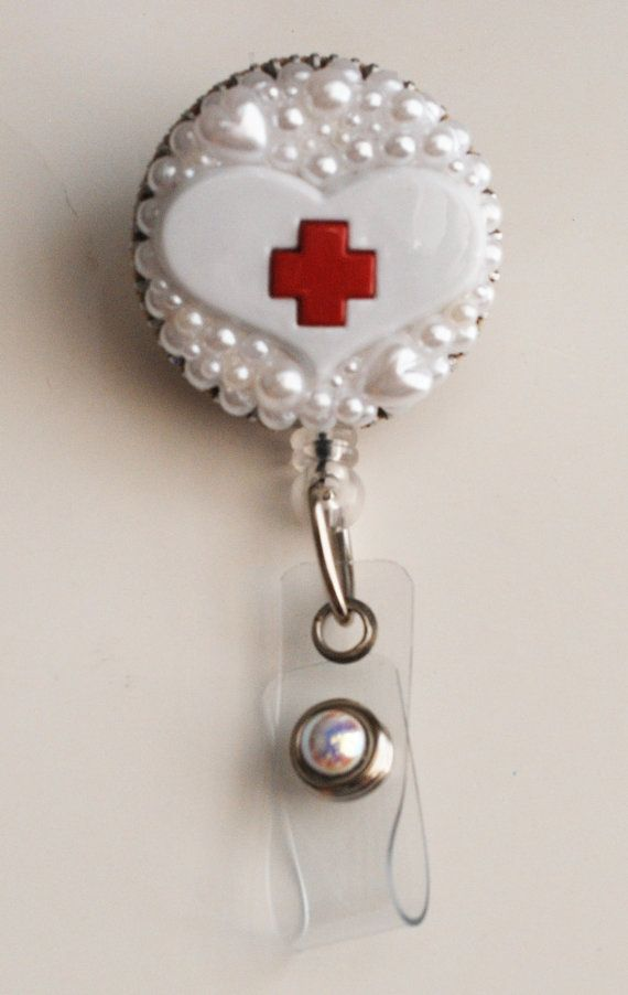 Zipper Heart Badge Reel