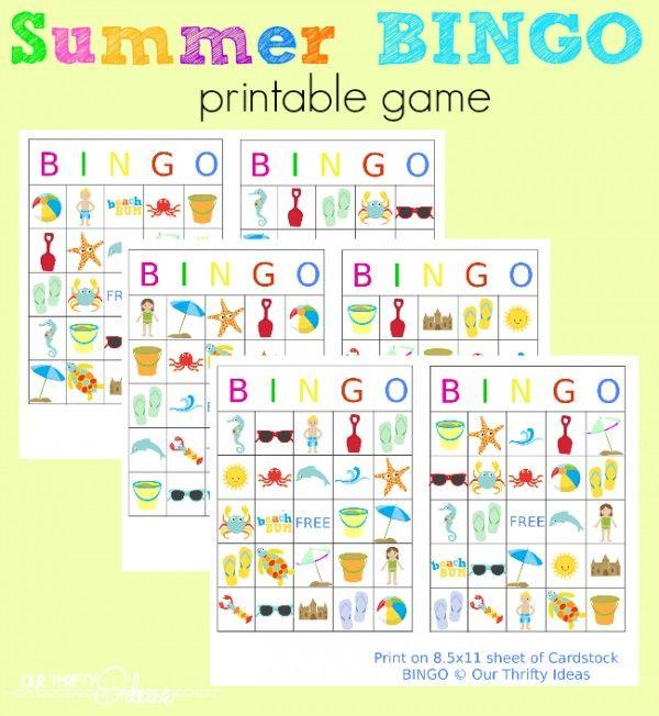 Summer Bingo Printables With Images Summer Bingo Bingo