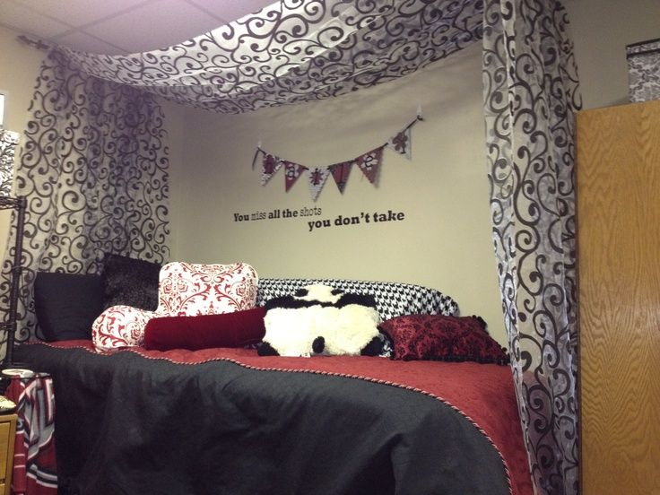 hanging curtains over bed ideas