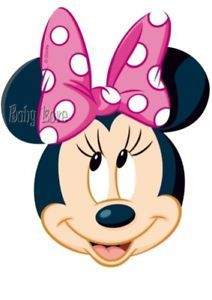 Iron On Transfer Cute Minnie Mouse Face Pink Bow 12x15 Minnie Mouse Pictures Minnie Mouse Theme Minnie Mouse Pink