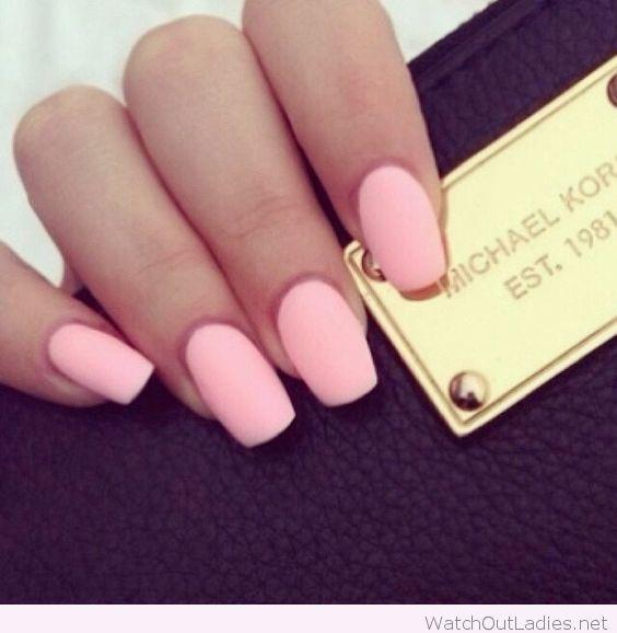 Sweet pink matte pastel nails | hair & makeup | Pinterest | Diseños ...