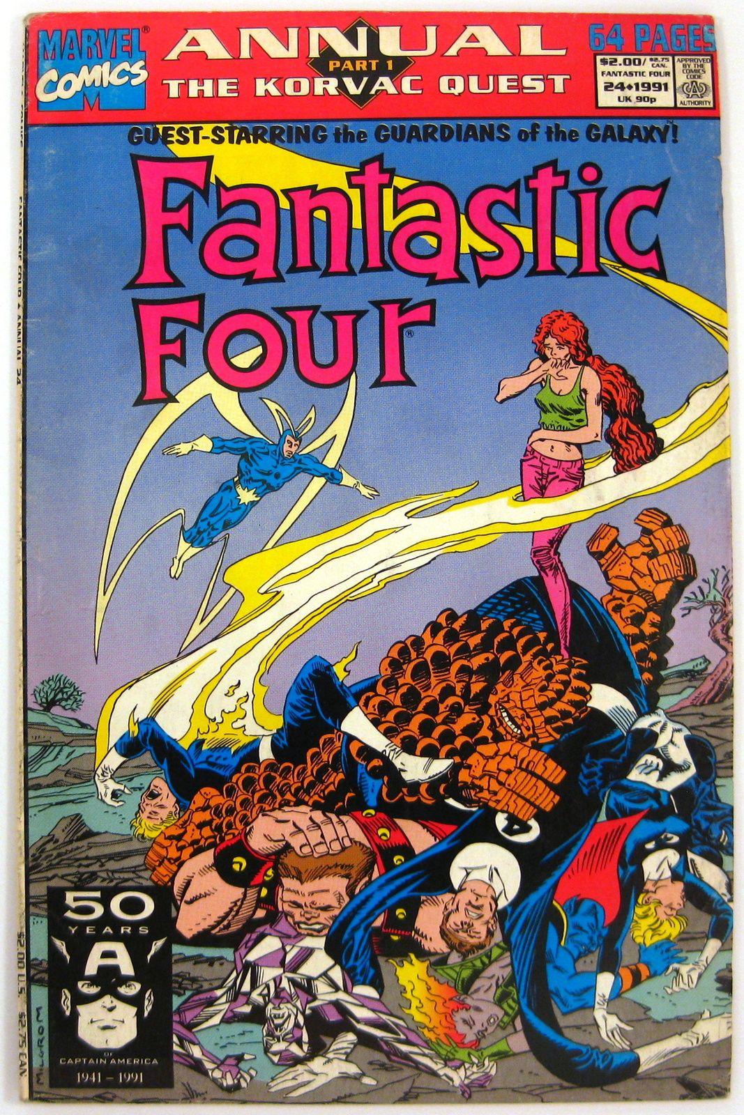 Fantastic Four Annual 24 Origin Retold 1st Jaboa Murphy Marvel Comics 1991 Fantastic Four Comics Fantastic Four Comics