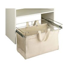 Features:  -Hamper.  -Lid Included: No.  -Easily removable with fold down handles and washable fabric bag.  Product Type: -Drawer.  Country of Manufacture: -United States.  Finish: -Ivory.  Mount Type