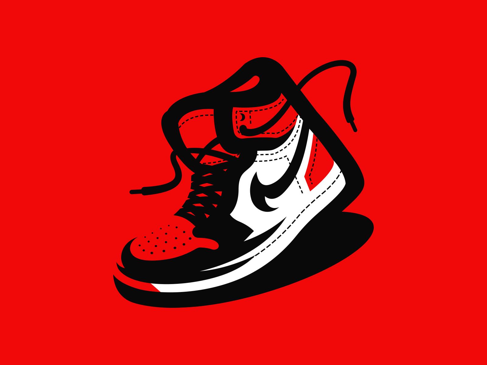 Michael Jordan Red And Black Background