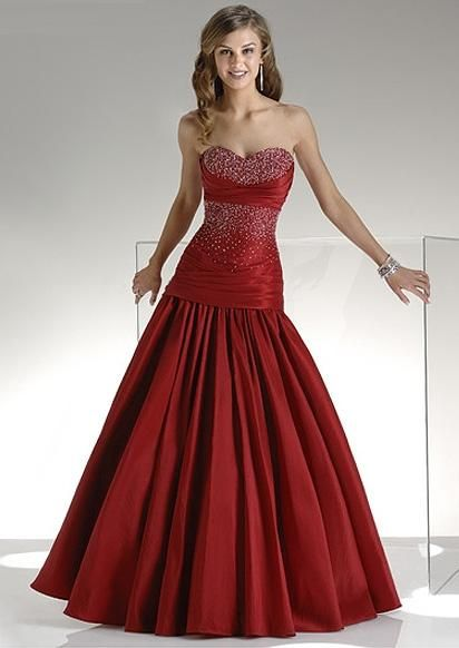 Blood Red Evening Dresses