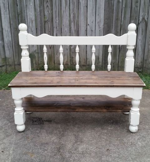 Antique Headboard Bench: White Twin Headboard Bench