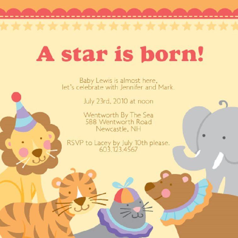 New Born Baby Party Invitation Templates Party Invitation Card