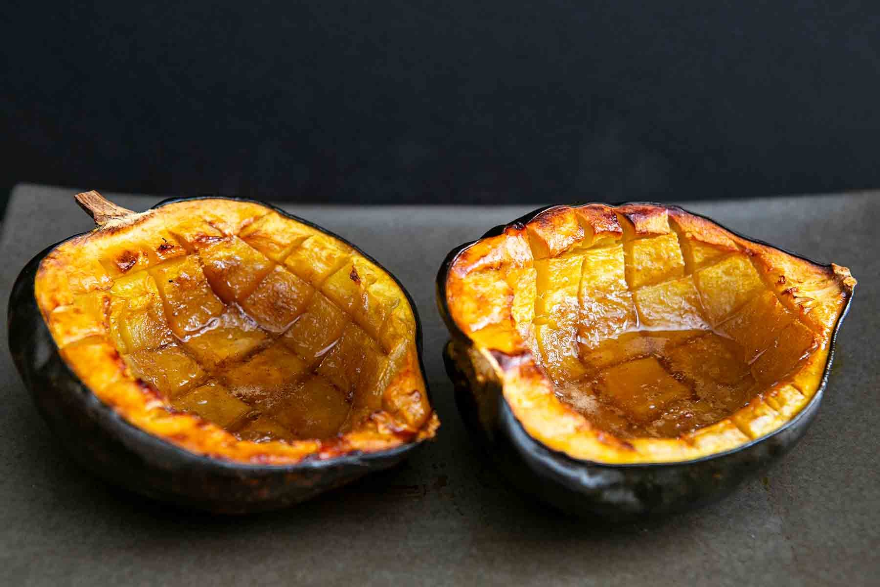 Baked Acorn Squash With Butter And Brown Sugar Recipe Simply