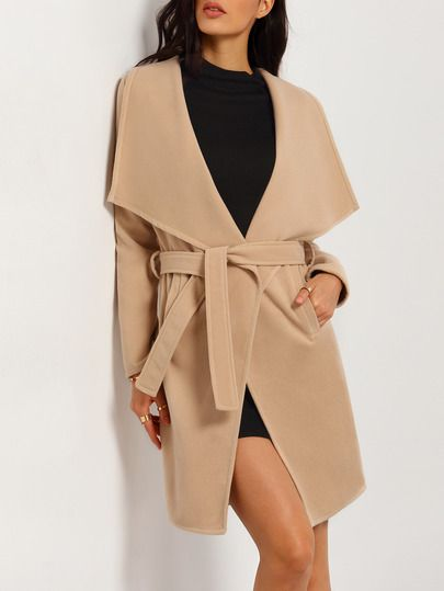 Shop Apricot Lapel Tie-Waist Loose Coat online. SheIn offers Apricot Lapel Tie-Waist Loose Coat & more to fit your fashionable needs.