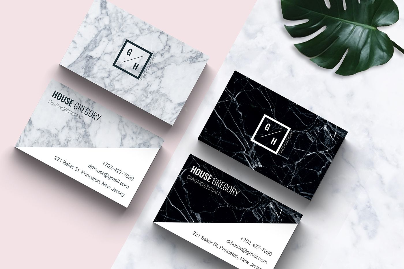 Marble business card template | PSD & INDD on Behance | Design ...