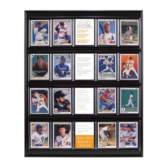 Collector Card Wall Display By Studio Decor Trading Card Display Trading Card Display Case Display Cards