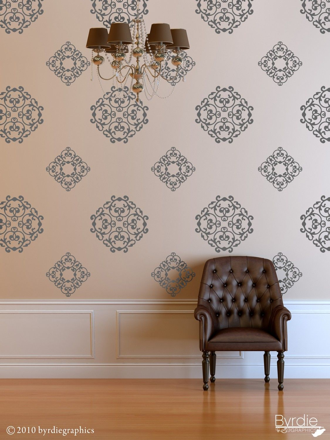 Vinyl Wall Decal, Classic Medallions   24 Graphics, Wallpaper, Stickers  Item 10034