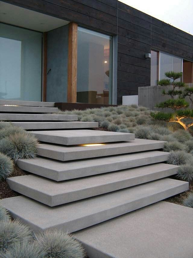 Best Staircase Into Garden Modern Landscaping Exterior 640 x 480
