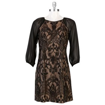 Adrianna Papell Petite Lace Shift Dress | from Von Maur ...