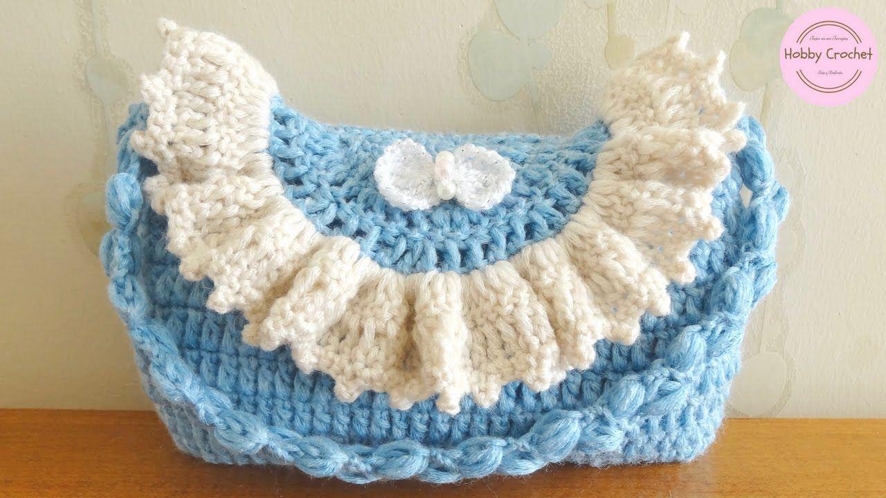 Bolso ó cartera para niñas, a crochet, paso a paso | Bolsos a crochet