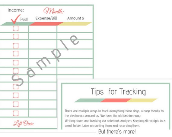 finance planner printable financial journal budget template expense