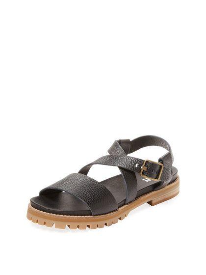 ea5f68ff3702 Lug Sole Leather Sandal by Renvy at Gilt