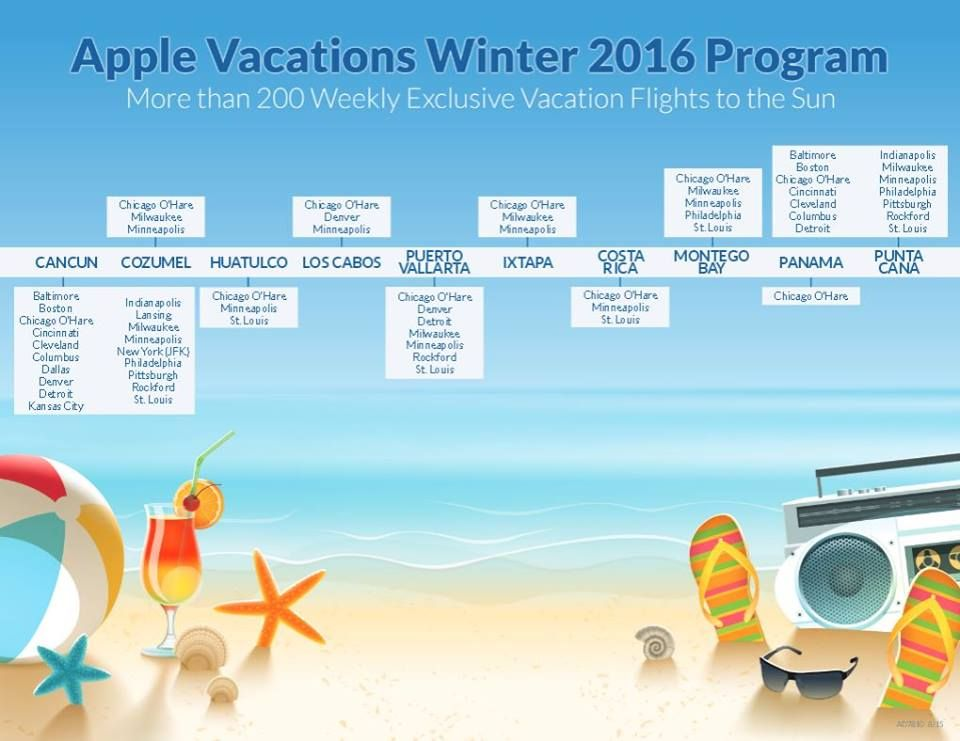 Nonstop Exclusive Vacation Flights From 19 Us Cities This Winter Plan Your Getaway Now Email Bisstr Exclusive Vacation Apple Vacations Vacation Inspiration