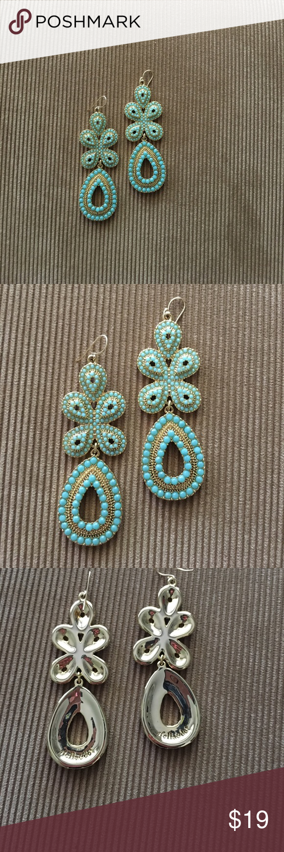 Women S Stella Dot Blue Green Size Os Earrings At A Ed Poshmark Excellent Condition Ready To Wear