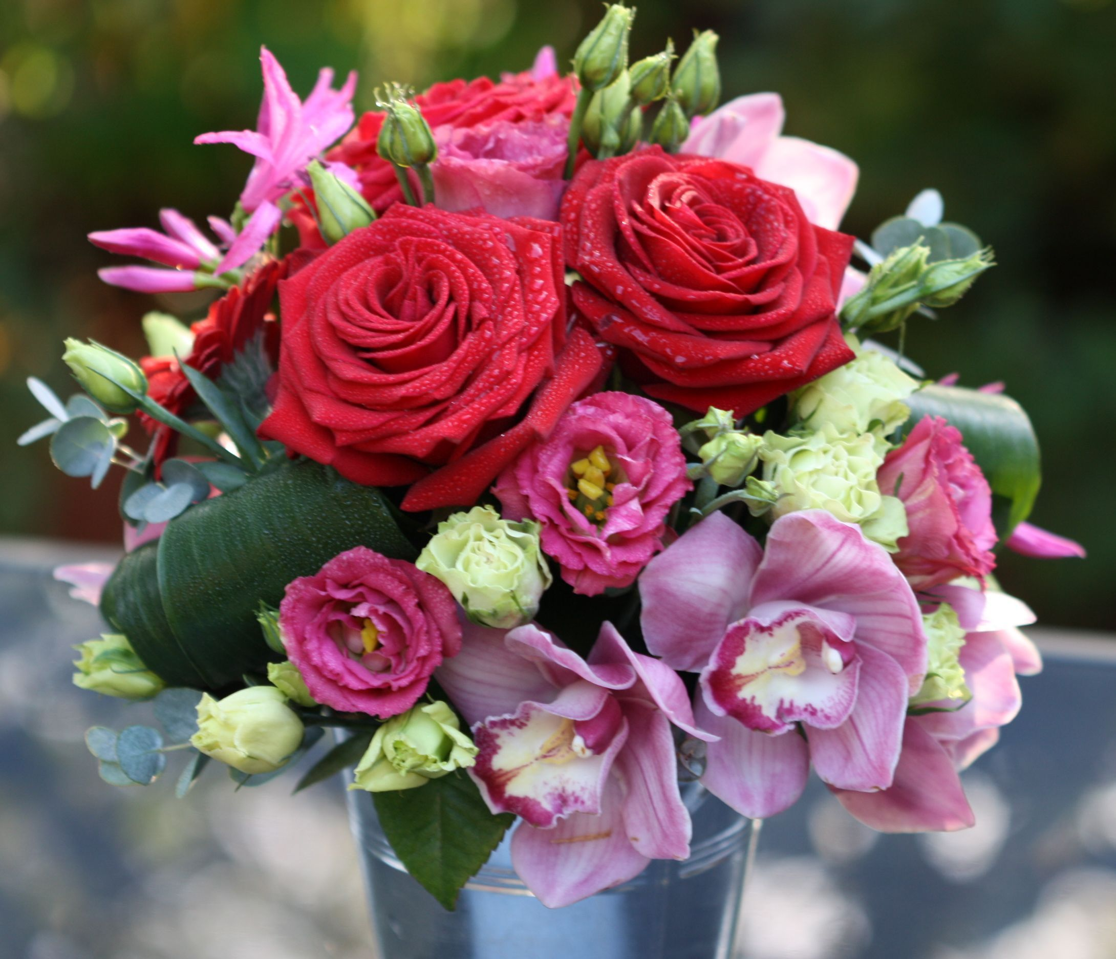 Roses & Orchids by Pip of Willow Floristry. www