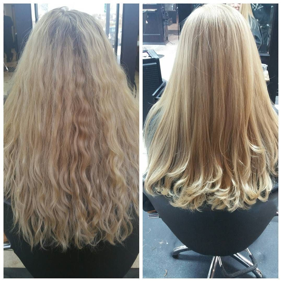 Before u After Color Haircut Treatment and Blowout Glamorous Silky