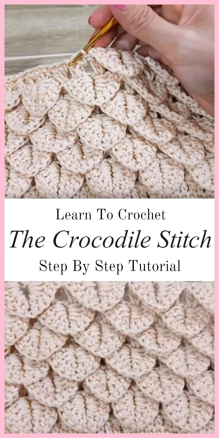 Apprenez à crocheter le point crocodile, # crochet #crocodile point #learn   – strickanleitungen