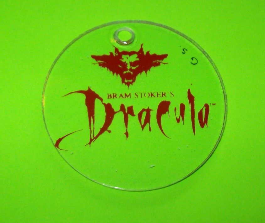 Williams Bram Stokers DRACULA 1993 Original NOS PINBALL MACHINE Promo Keychain #Dracula