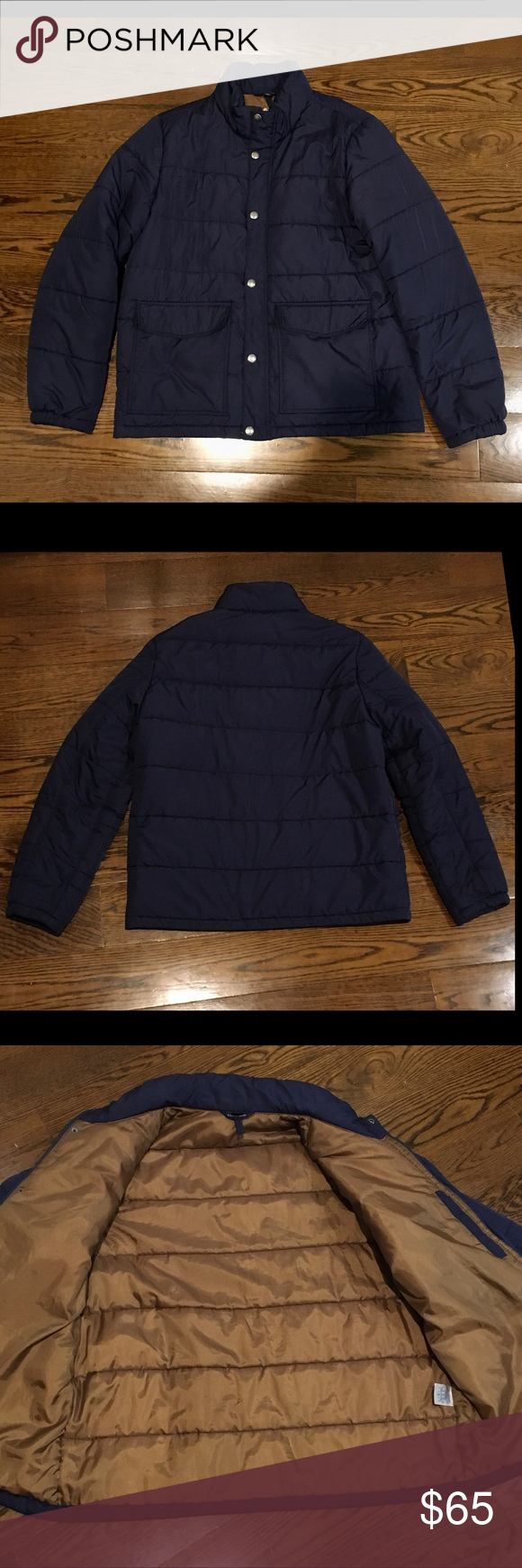 Landsend Men S Navy Quilted Puffer Jacket Large Lands End Men S Quilted Puffer Jacket Size Large 42 44 Colo Quilted Puffer Jacket Quilted Parka Parka Jacket [ 1740 x 580 Pixel ]