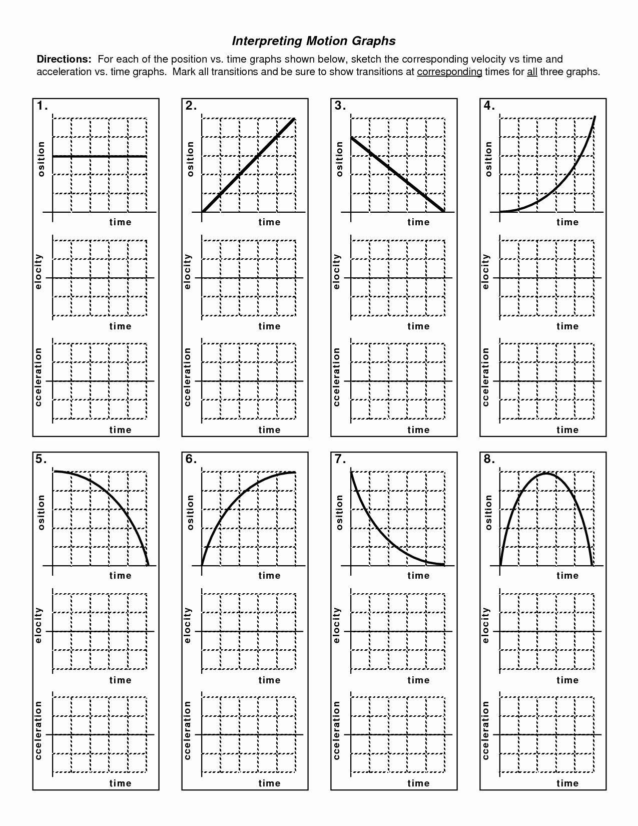Motion Graphs Worksheet Answers Luxury Kinematics Motion