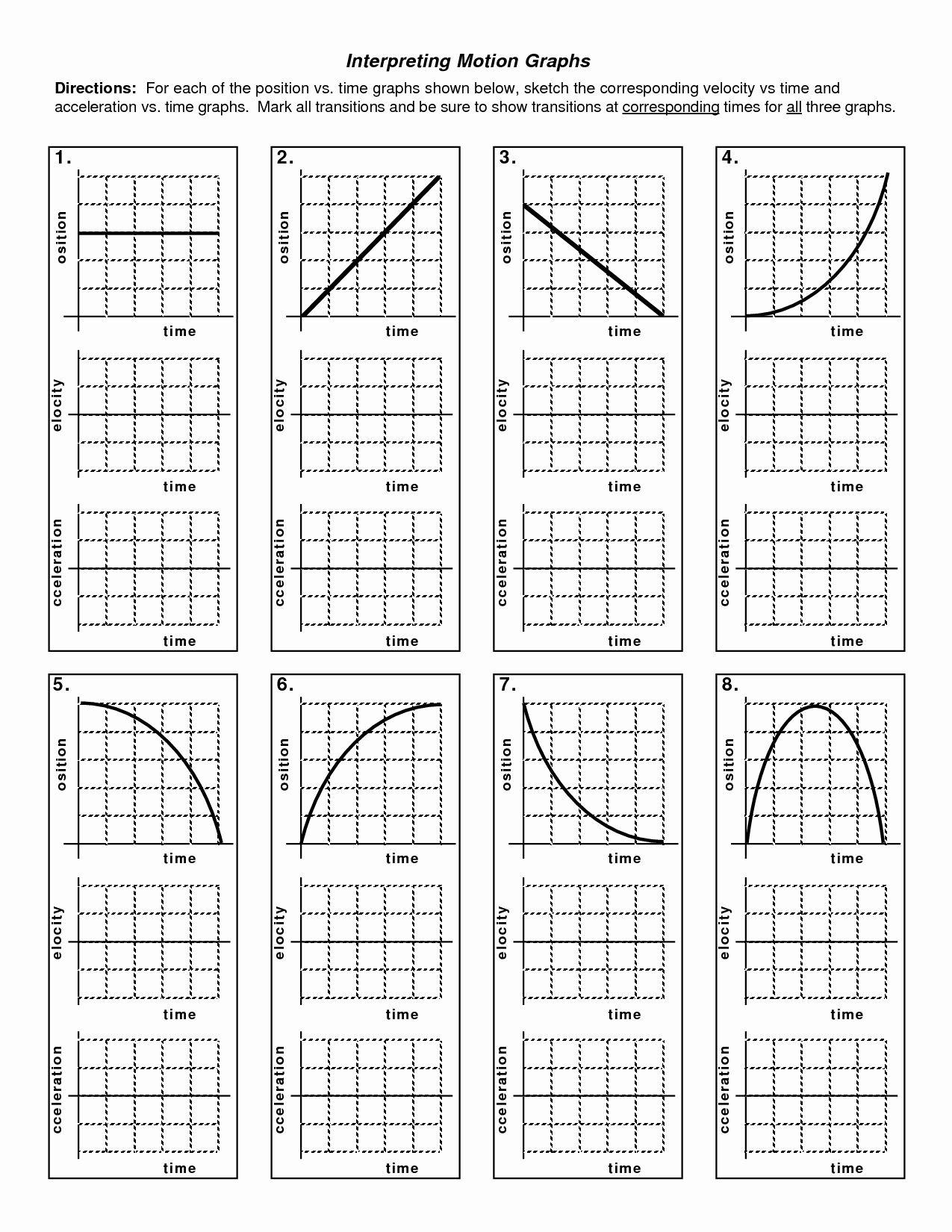 Motion Graphs Worksheet Answers Luxury Kinematics Motion