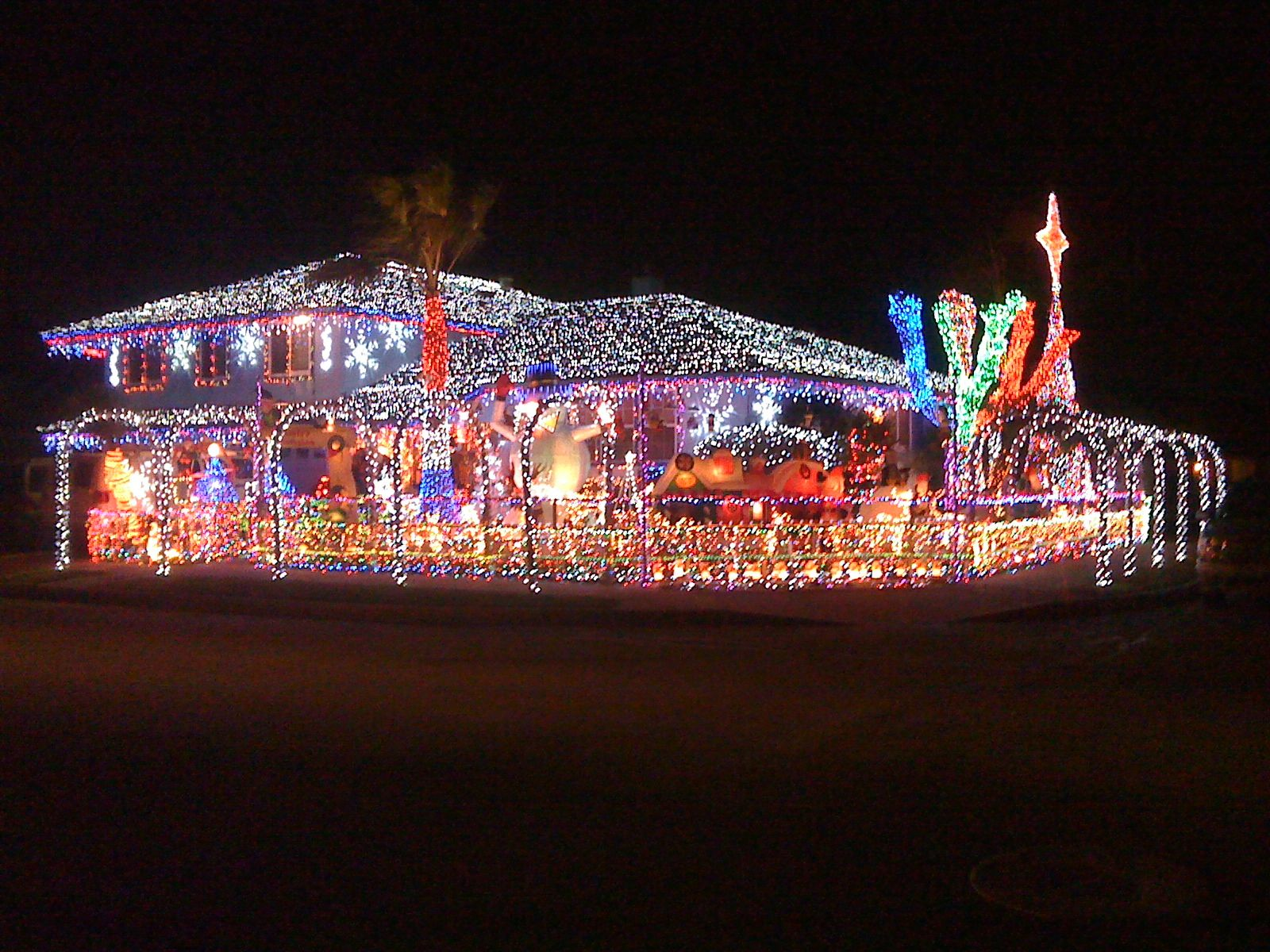 Awesome Christmas Lights On House Awesome