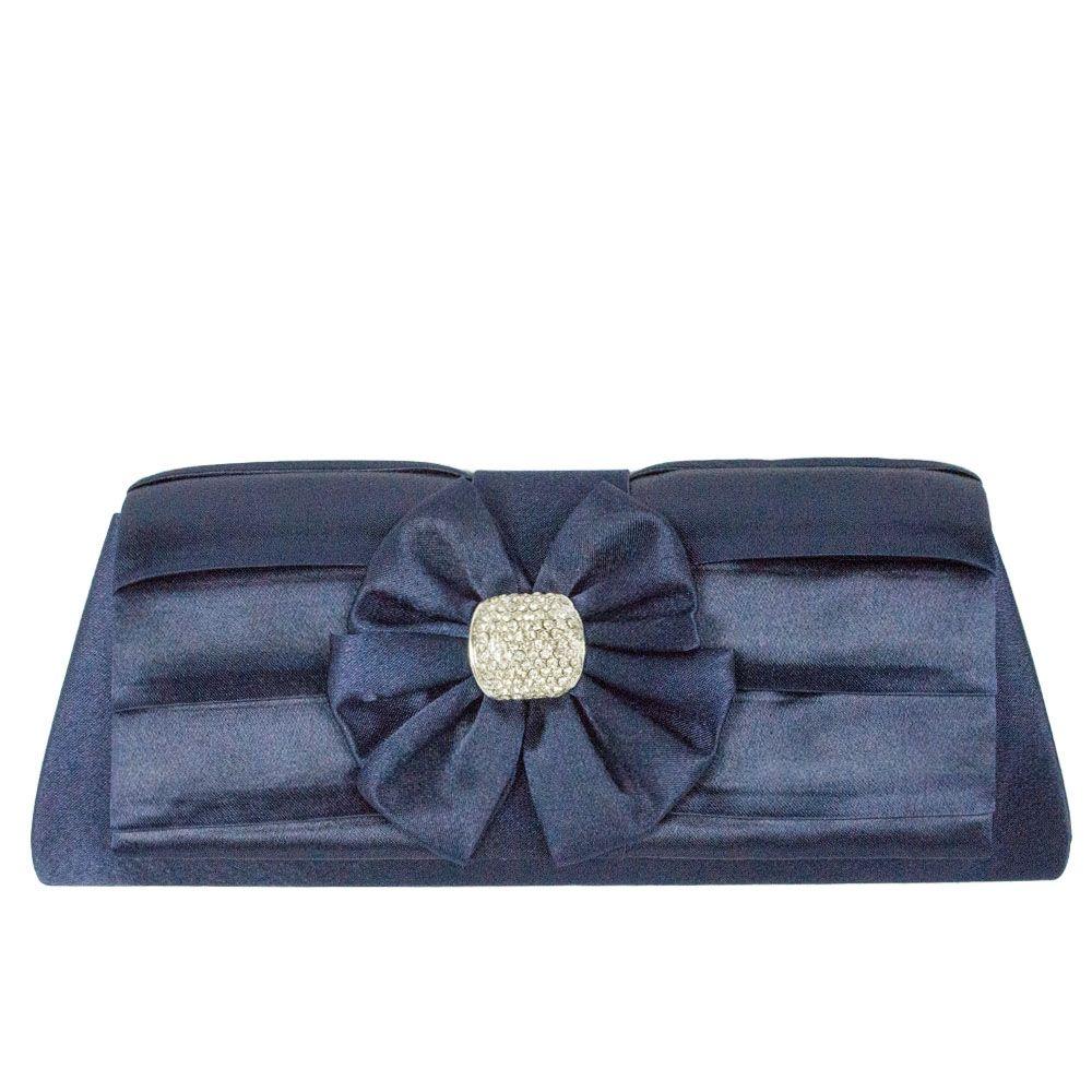 e3bb5d3f6f Bolsa de festa cetim azul marinho - Bolsa de festa cetim azul marinho.  Elegante,